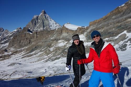 Alpine Skiing with Matterhorn
