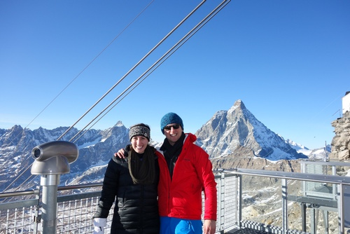 Us at the top of the mountain