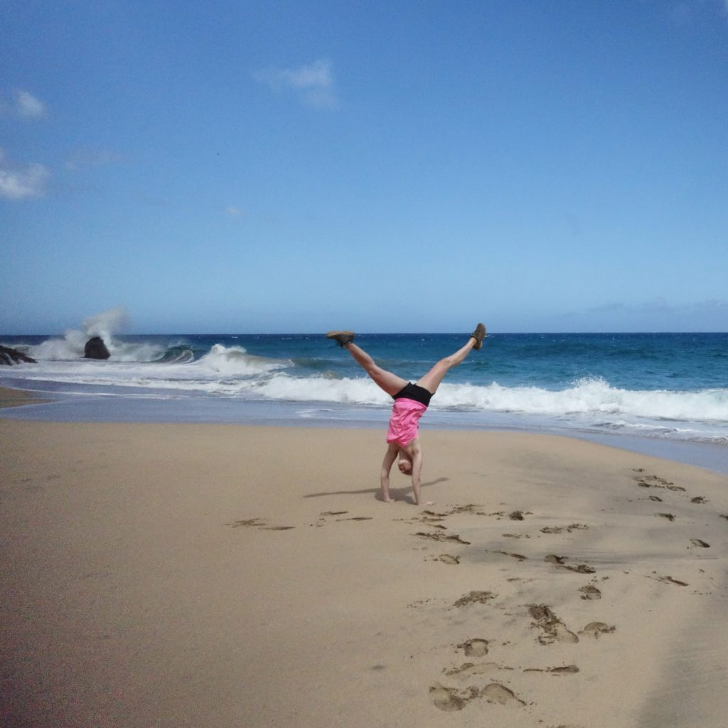 Cartwheels on Hanakapi'ai beach