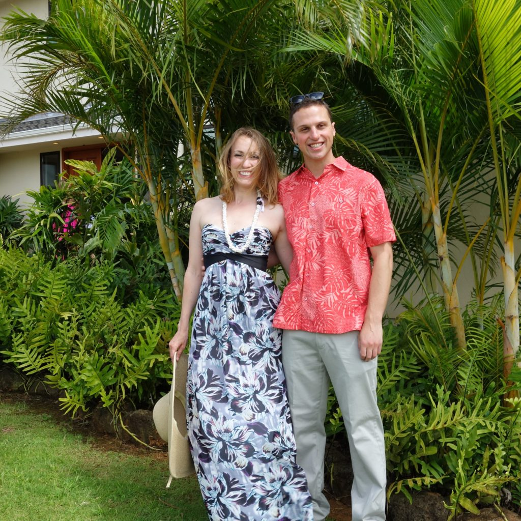 Hawaiian wedding outfits
