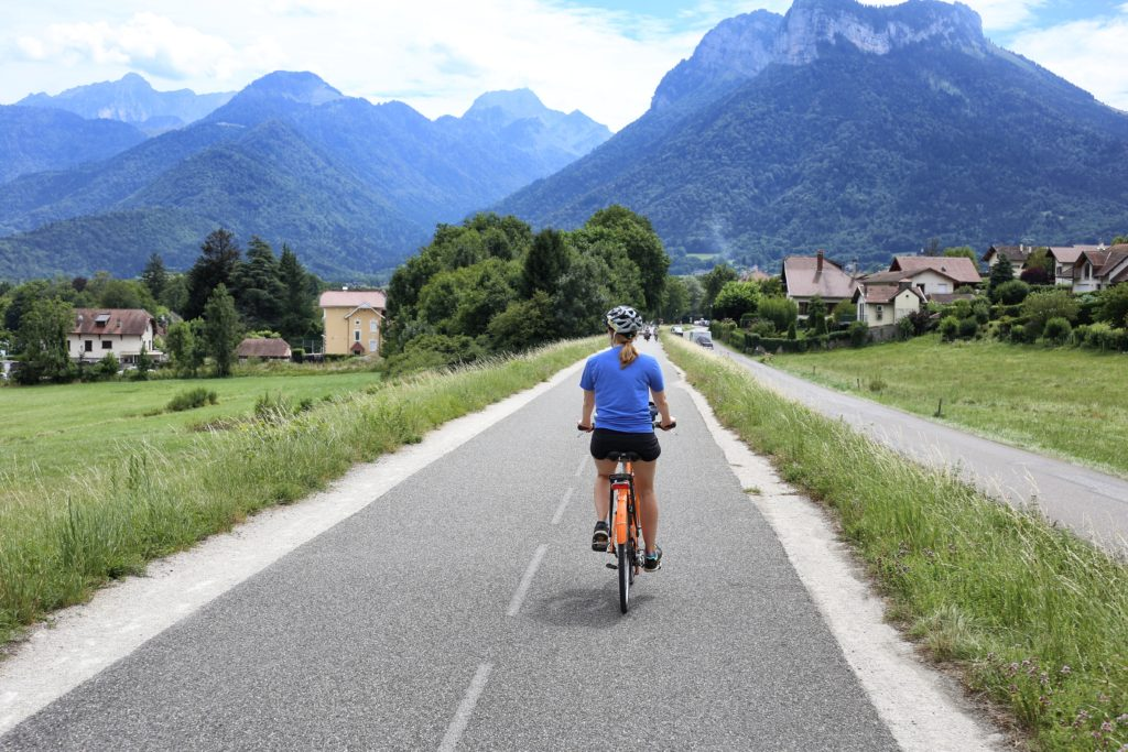 Biking in Annecy
