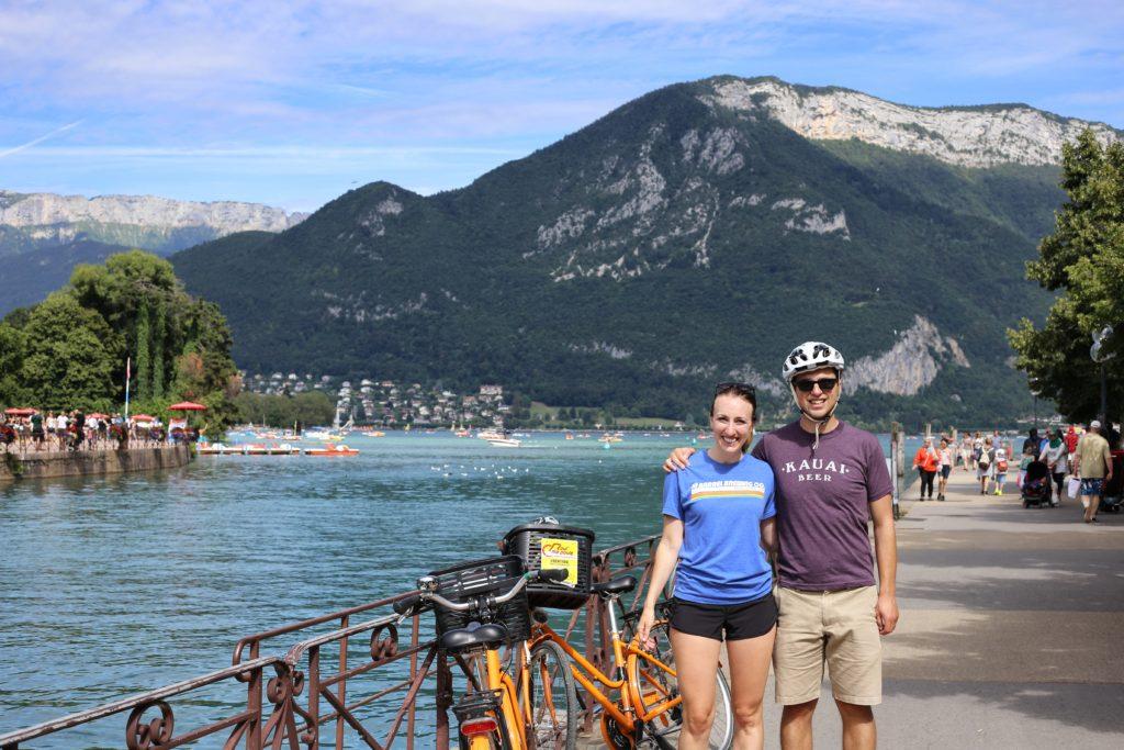Annecy biking photo