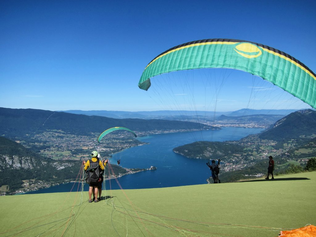 Take off in Annecy