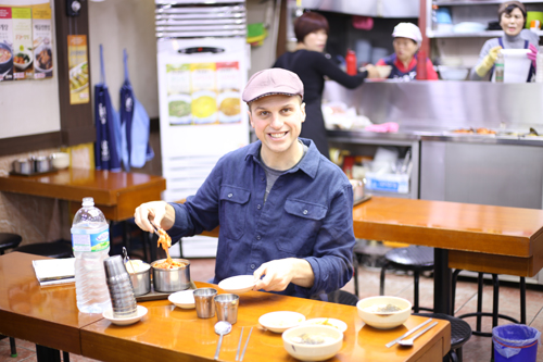 Andrew breakfast in Seoul